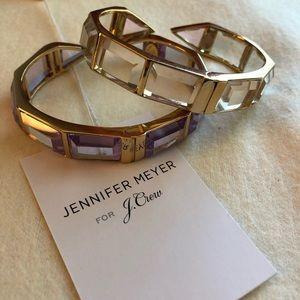 EUC Jennifer Meyer for J Crew jeweled cuffs (x2)